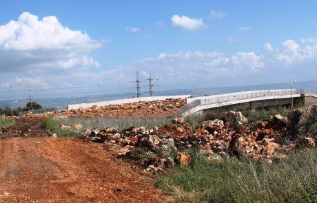 הושלמה הקמת גשר אקולוגי מעל כביש 85