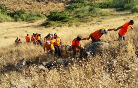 חילוץ מירוק לכתום – עם יחידת חילוץ גולן
