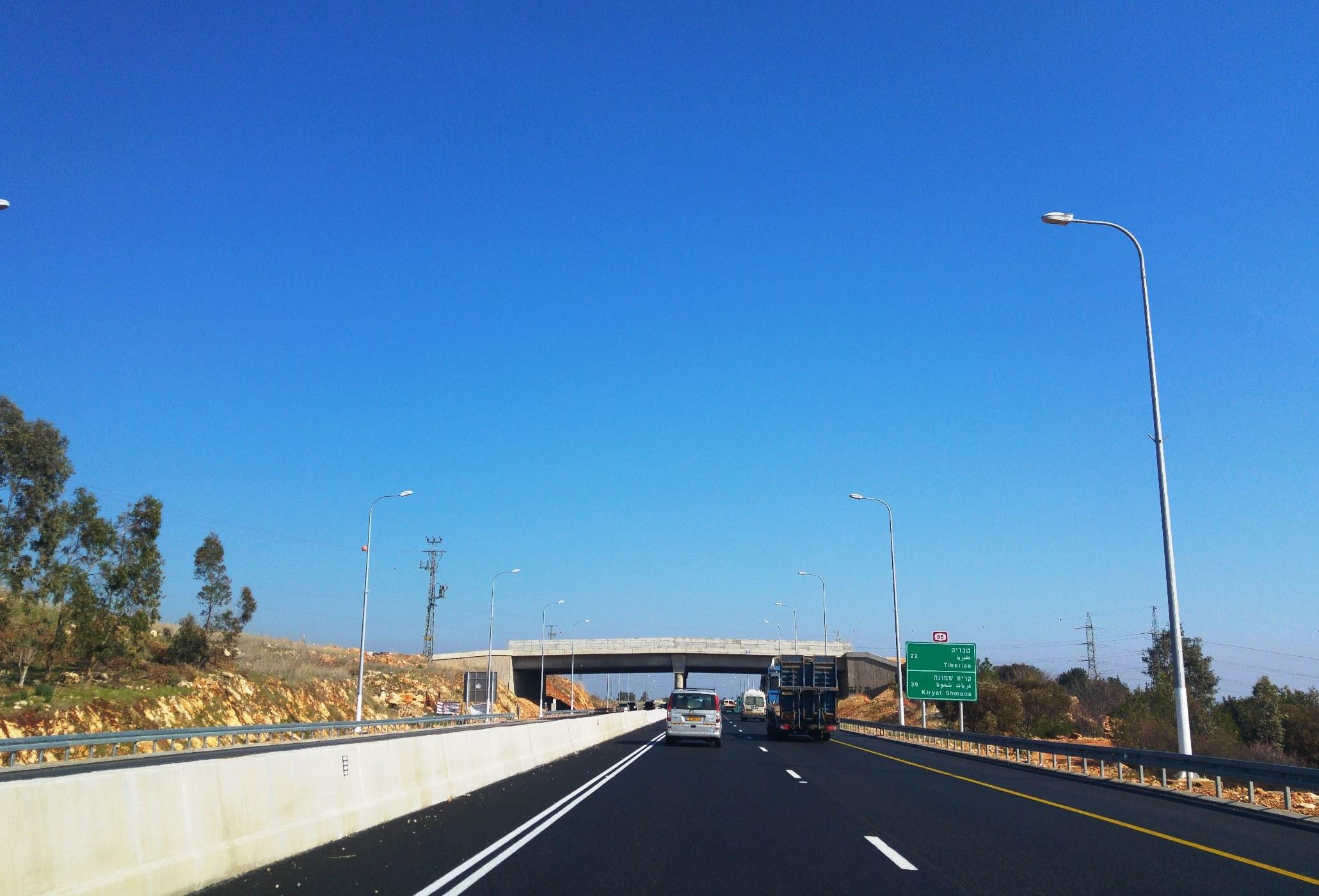 גשר אקולוגי- כביש 86 צילום חברת נתיבי ישראל